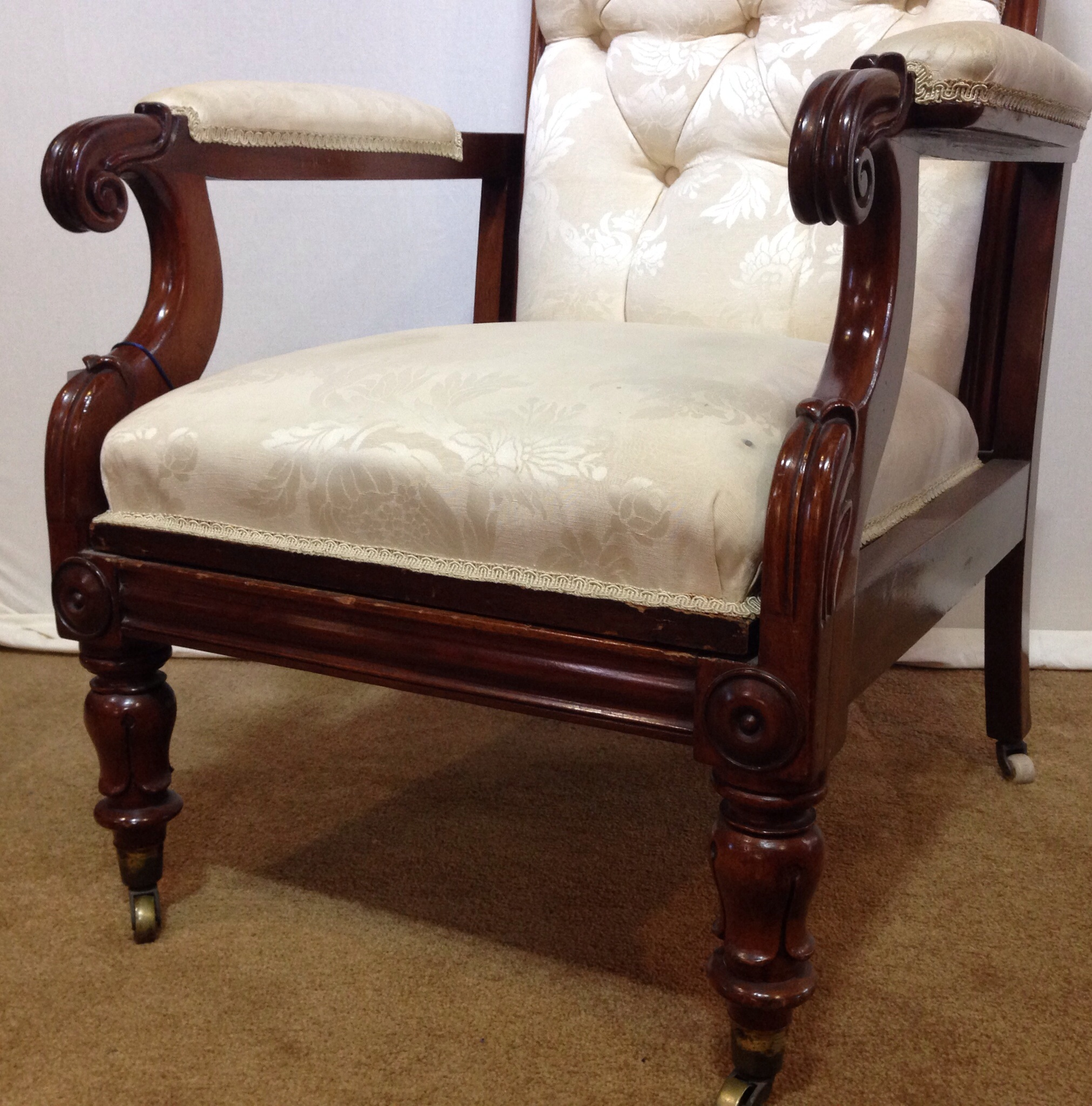 William Iv Reclining Library Chair Moorabool Antiques Galleries