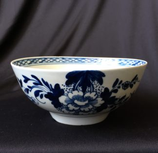 Chaffers Liverpool waste bowl, bird & flowers pattern, c.1765-0