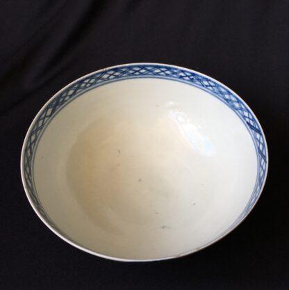 Chaffers Liverpool waste bowl, bird & flowers pattern, c.1765-19940