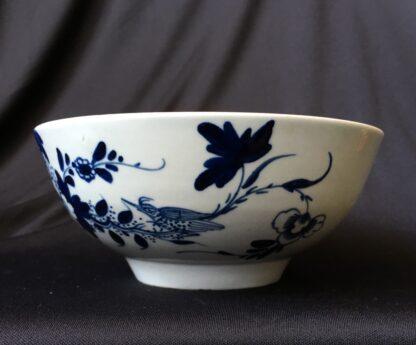 Chaffers Liverpool waste bowl, bird & flowers pattern, c.1765-19941