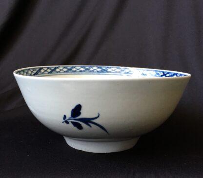 Chaffers Liverpool waste bowl, bird & flowers pattern, c.1765-19938