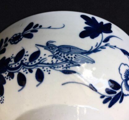 Chaffers Liverpool waste bowl, bird & flowers pattern, c.1765-19932