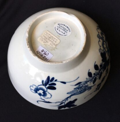 Chaffers Liverpool waste bowl, bird & flowers pattern, c.1765-19936