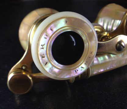 French Mother-of-Pearl Opera Glasses with Lorgnette. Circa 1890-6511