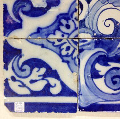 Spanish faïence tile panel with cherub, c. 1750 -6553