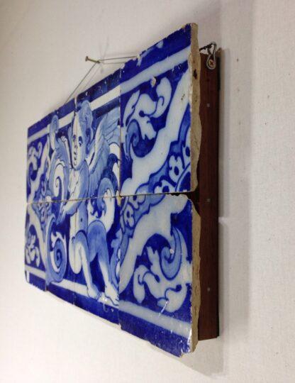 Spanish faïence tile panel with cherub, c. 1750 -6555