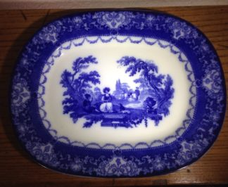 Doulton earthenware meat platter, Watteau pattern, dated 1911-0