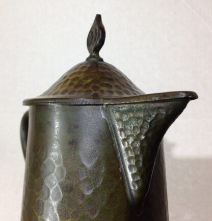 English Arts & Crafts copper jug, Joseph Sankey of Bilston, c. 1910-6650