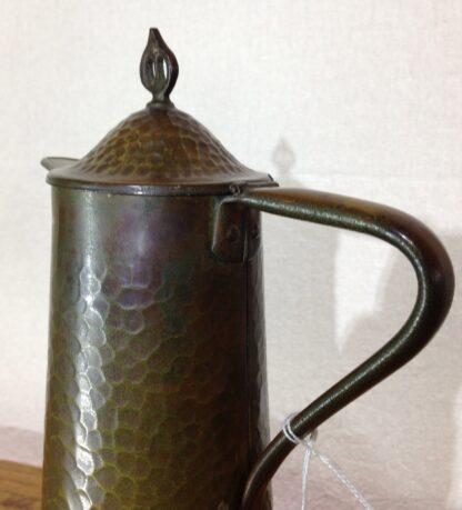 English Arts & Crafts copper jug, Joseph Sankey of Bilston, c. 1910-6651