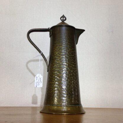 English Arts & Crafts copper jug, Joseph Sankey of Bilston, c. 1910-6652