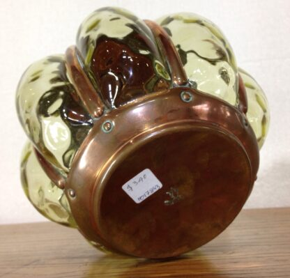 Rare Wynyates biscuit barrel, Arts & Crafts copper & glass, c.1905 -6666