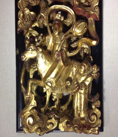 Chinese carved panel, superb quality, 19th century-0