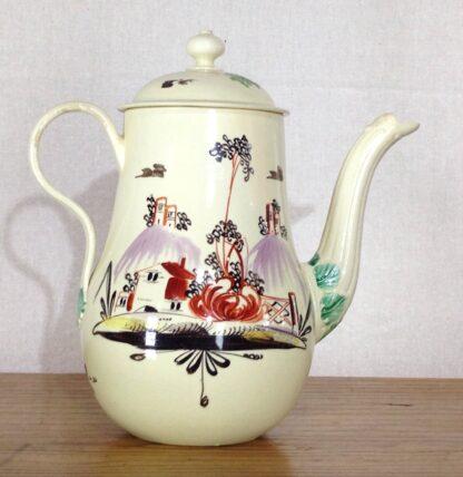 Creamware coffeepot, Rhodes type decoration, c. 1770 -6805