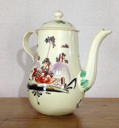 Creamware coffeepot, Rhodes type decoration, c. 1770 -6806