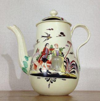 Creamware coffeepot, Rhodes type decoration, c. 1770 -0