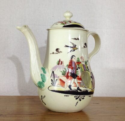 Creamware coffeepot, Rhodes type decoration, c. 1770 -6809