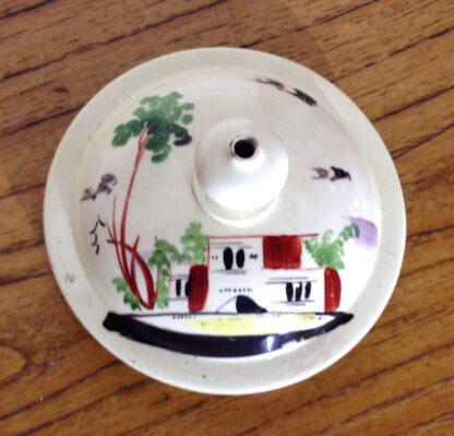 Creamware coffeepot, Rhodes type decoration, c. 1770 -6813