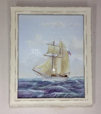 Carter,L. Original watercolour, sailing ship -0