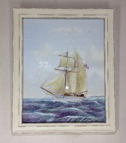 Carter,L. Original watercolour, sailing ship -0