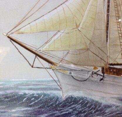 Carter,L. Original watercolour, sailing ship -6860