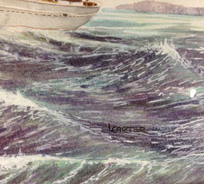 Carter,L. Original watercolour, sailing ship -6861