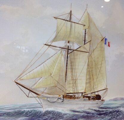 Carter,L. Original watercolour, sailing ship -6862