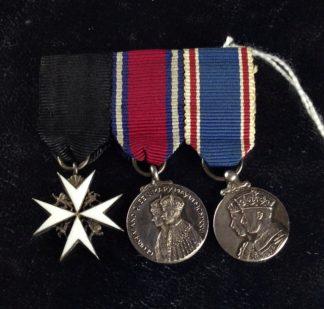 WWII Australian Commonwealth medal set, St John, Jubilee, Coronation, 1935-7 -0
