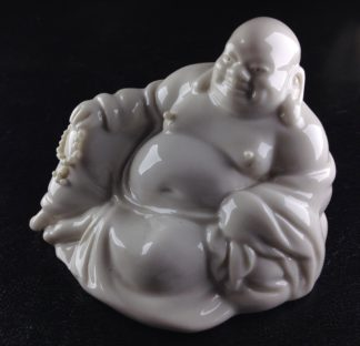 Chinese porcelain seated Buddha, 20th century -0