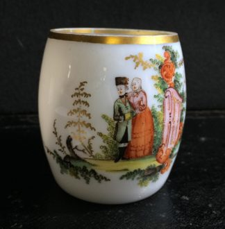German 'milchglass' tankard with rococo figures, C. 1760 -0