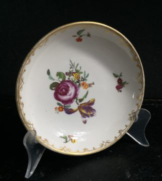 Vienna saucer with flowers, C. 1765 -0