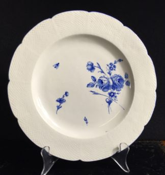 Chantilly plate with blue flowers & insects, C. 1770 -0