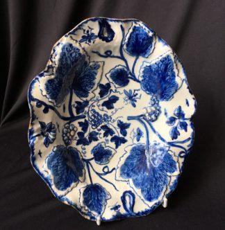 Bow vine leaf moulded dish, C. 1765 -0