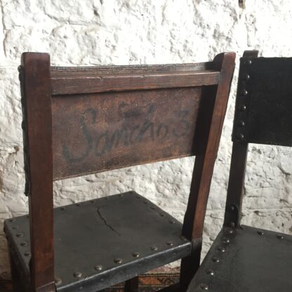 Pair of Spanish elm chairs, mid 17th century -13607