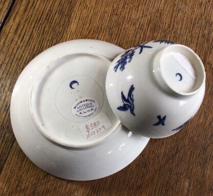 Worcester tea bowl & saucer, 'birds in branches' C. 1780 -16721