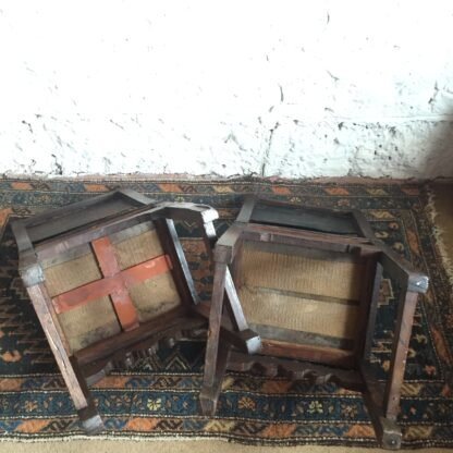 Pair of Spanish elm chairs, mid 17th century -13608