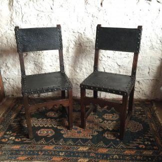 Pair of Spanish elm chairs, mid 17th century -0