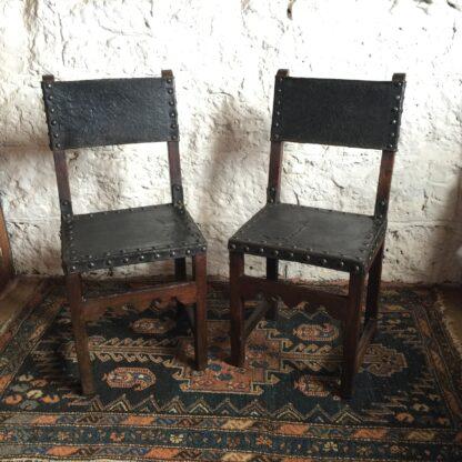 Pair of Spanish elm chairs, mid 17th century -0