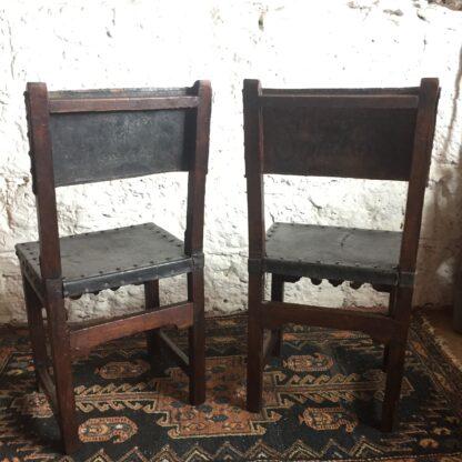 Pair of Spanish elm chairs, mid 17th century -13610