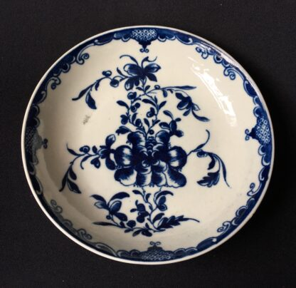 Worcester Mansfield pattern coffee cup & saucer, C. 1770 -19889