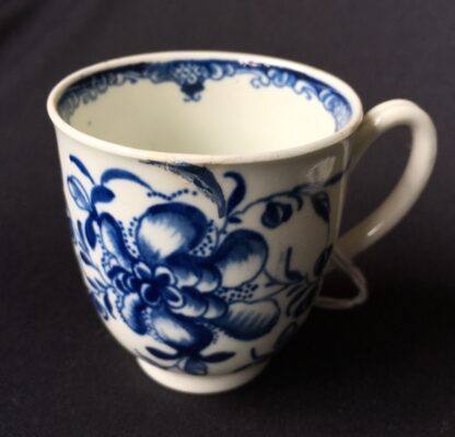 Worcester Mansfield pattern coffee cup & saucer, C. 1770 -19886