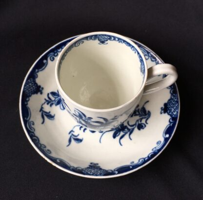 Worcester Mansfield pattern coffee cup & saucer, circa 1770 -19873