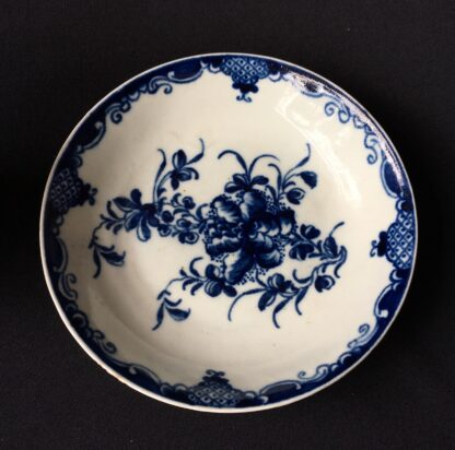 Worcester Mansfield pattern coffee cup & saucer, circa 1770 -19874