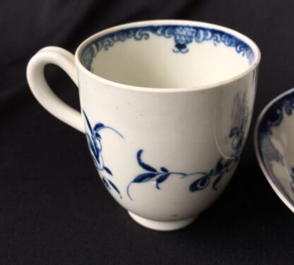Worcester Mansfield pattern coffee cup & saucer, circa 1770 -19872