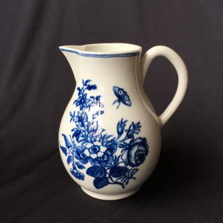 Caughley jug with flower & moth print, C. 1770 -0