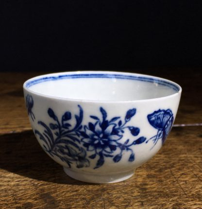 Worcester tea bowl, small size, three flowers pattern c.1765 -0