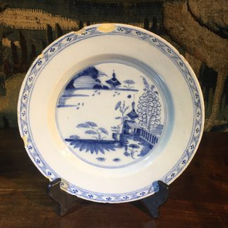 English delft plate, probably Liverpool, C. 1760 -0