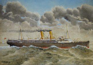 G Glanville, 'SS Otway - Orient Line ' 1910