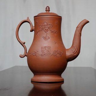 English Redware coffee pot Leeds