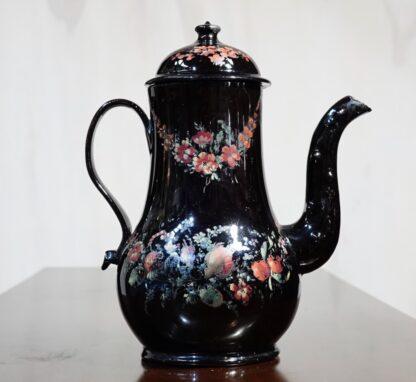 Jackfield Type coffee pot