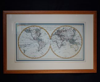 Rigobert Bonne World map, c.1780